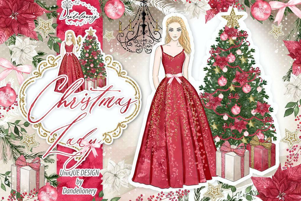 圣诞红色女孩