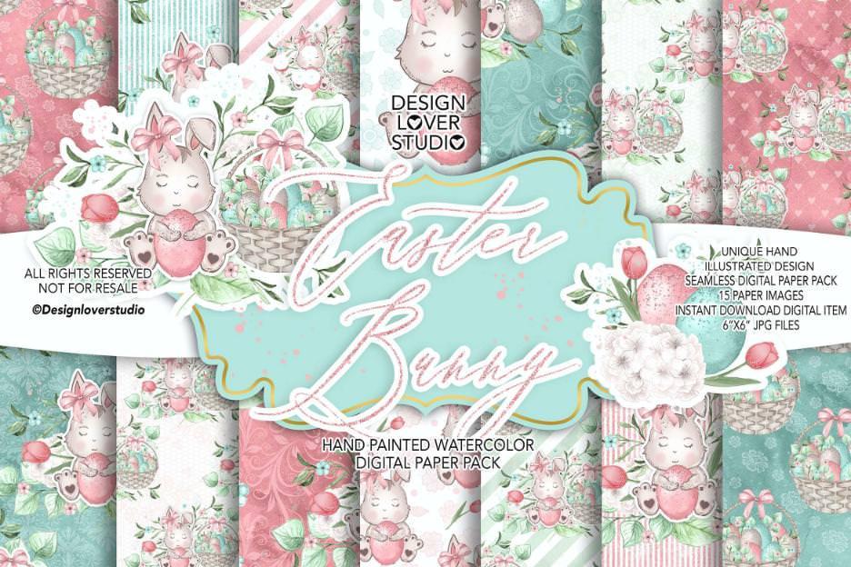 甜蜜复活节白兔