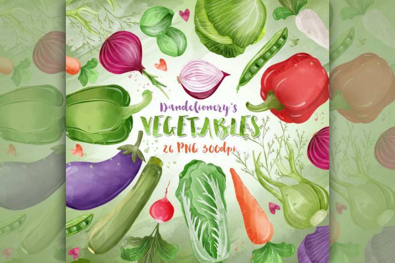 矢量蔬菜元素