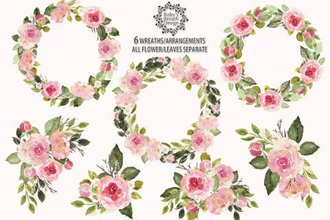 玫瑰花圈花边