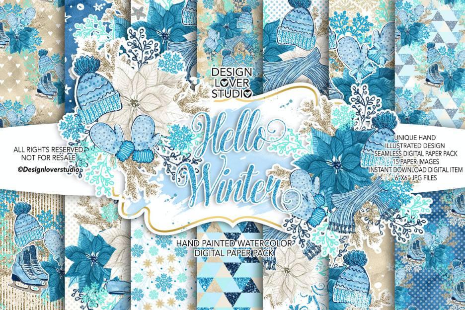 蓝色冬季套组