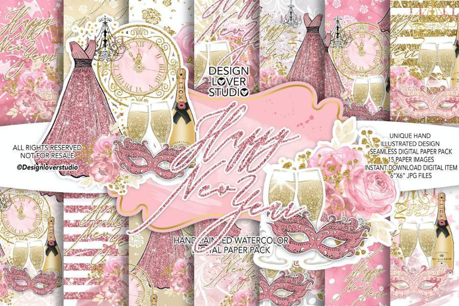 粉色新年快乐
