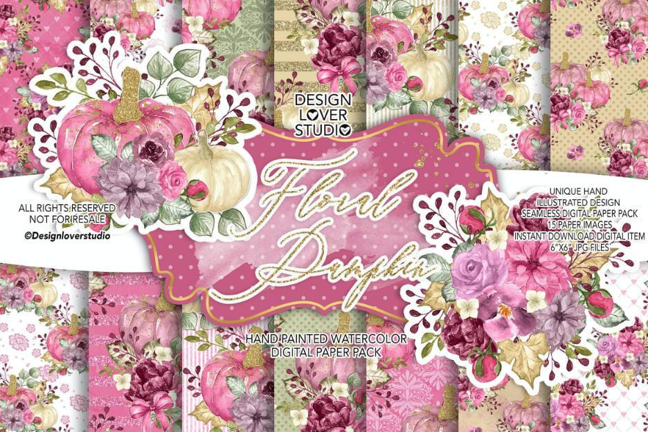 粉色花朵与南瓜套组