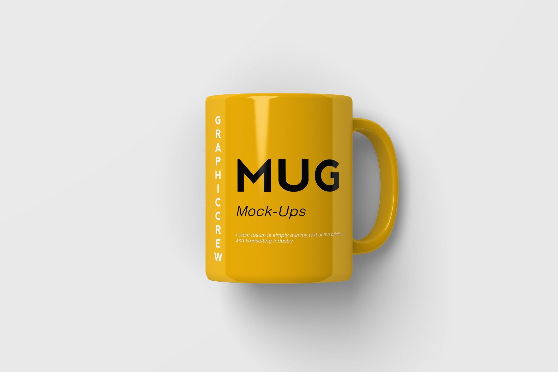 黄色杯子马克杯