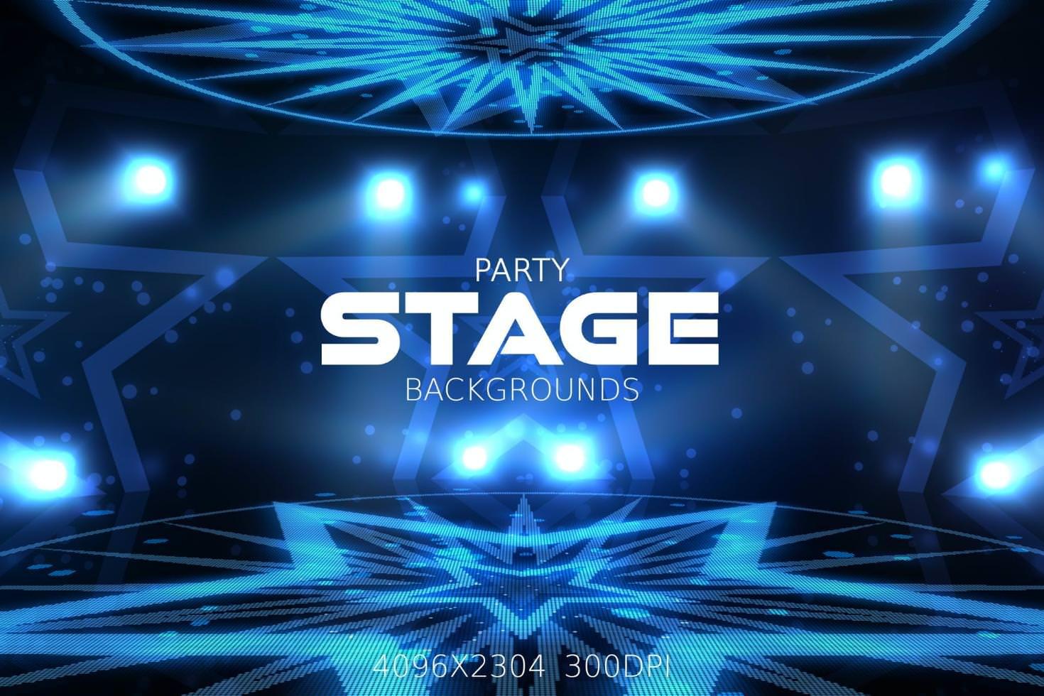 4种派对舞台效果纹理背景