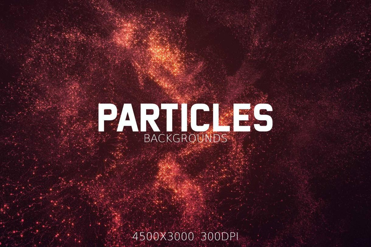 12种粒子发光效果纹理背景