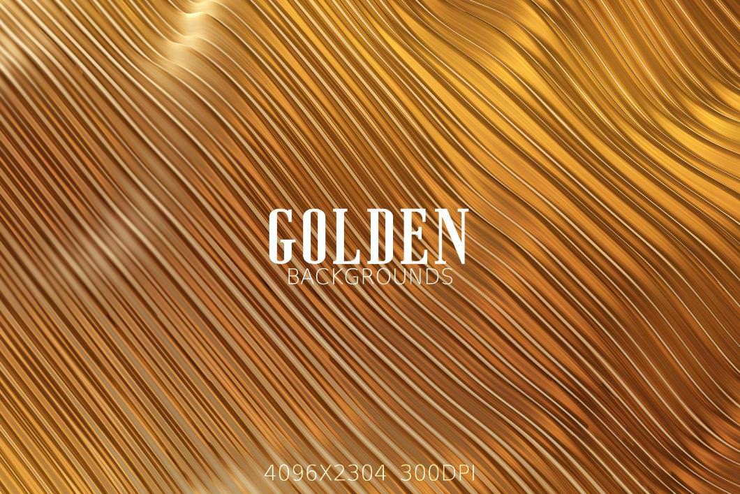 7种金色效果纹理背景