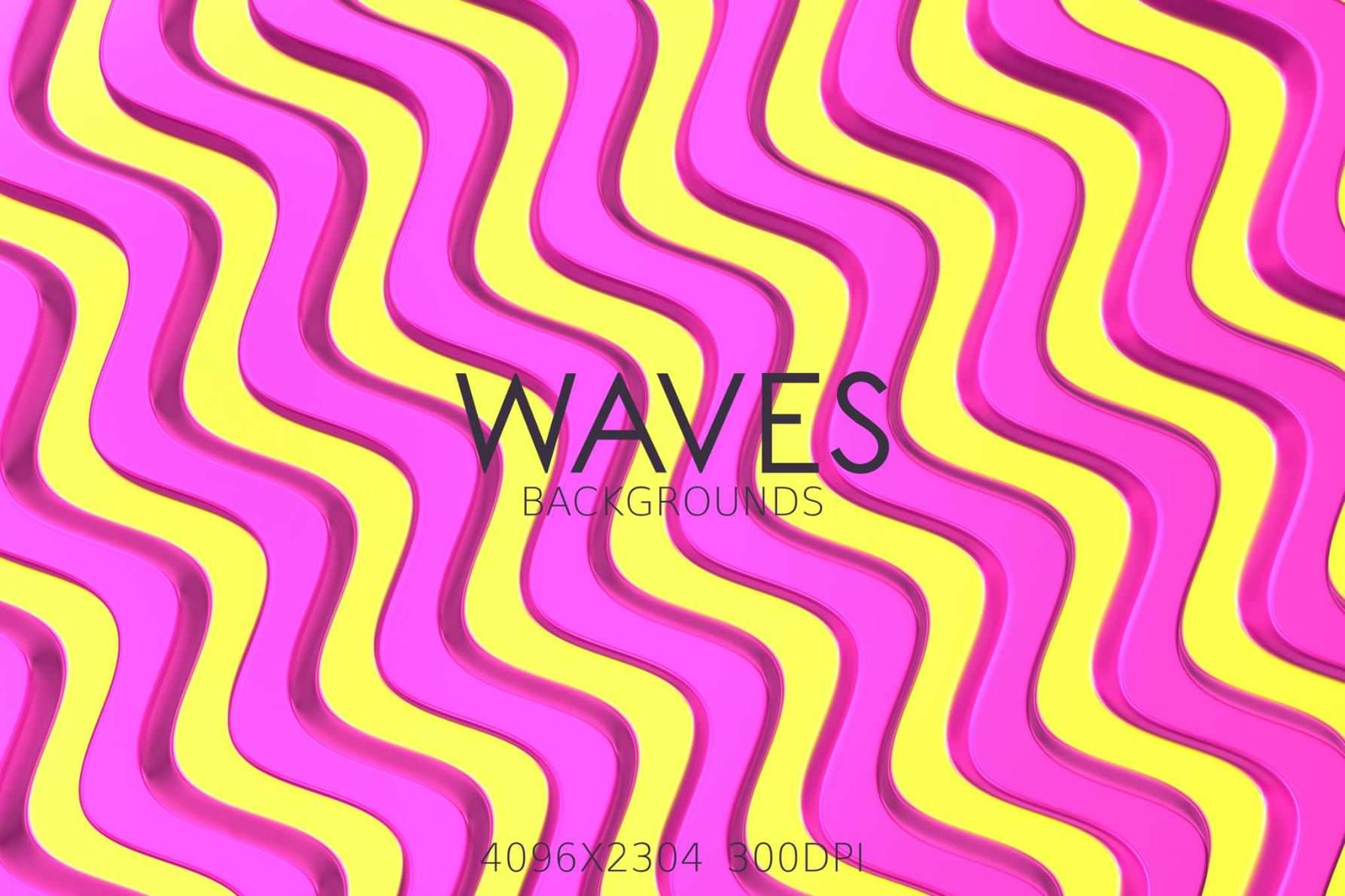 9种彩色波浪条纹效果纹理背景