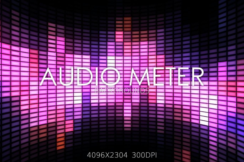 8种音频计效果纹理背景
