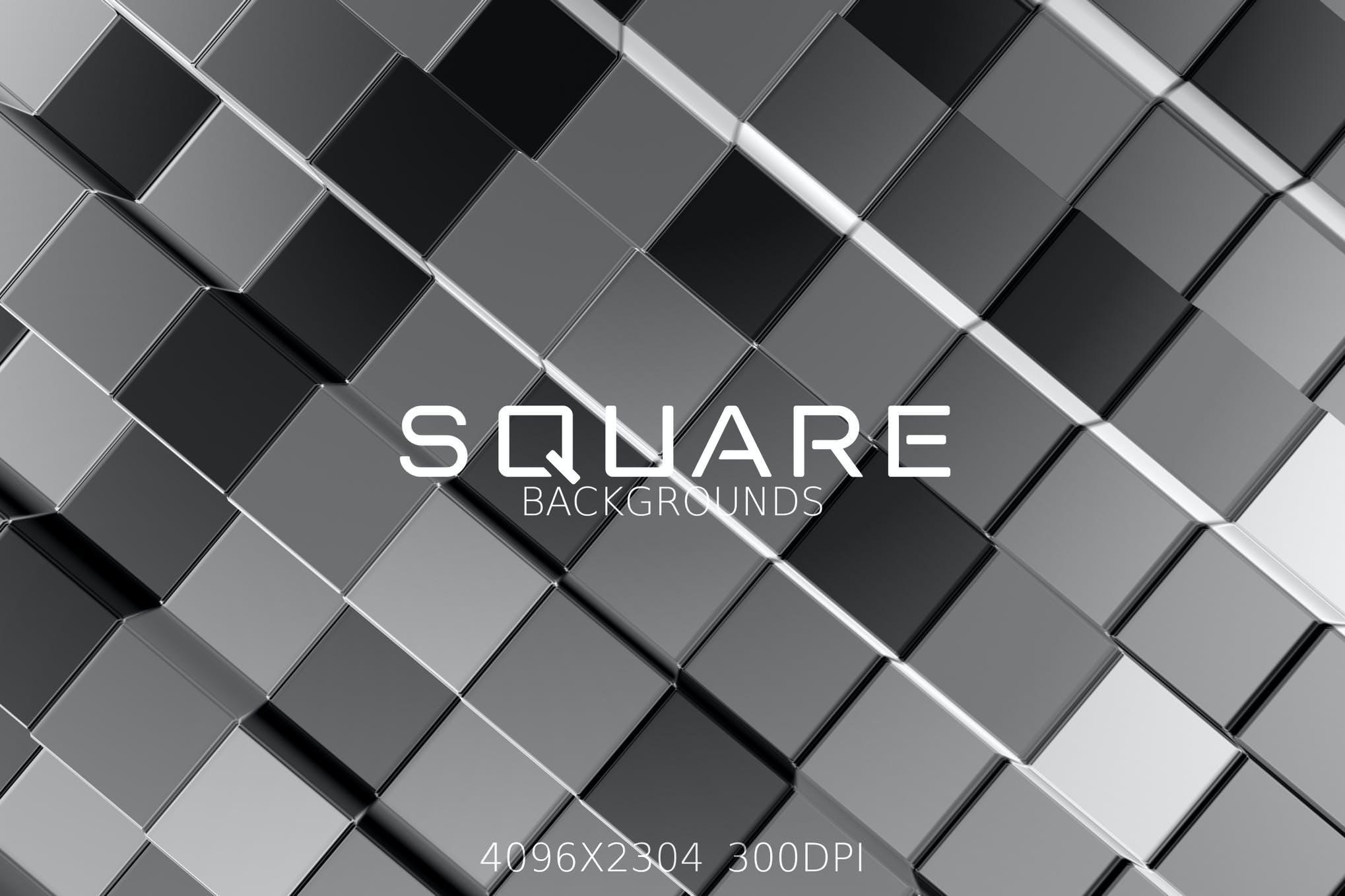 6种方格方块效果纹理背景