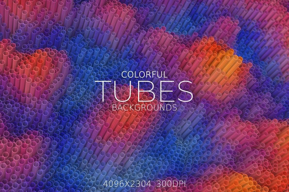 6种多彩管道效果纹理背景