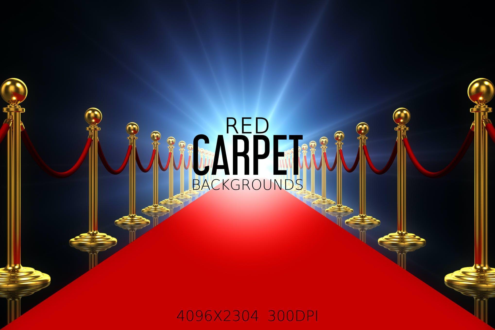6种红毯效果纹理背景
