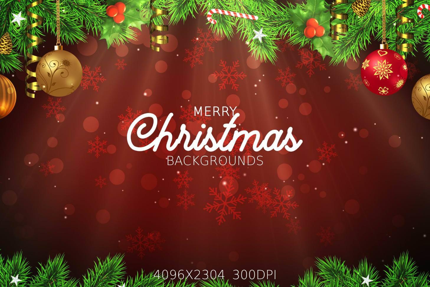 8种圣诞节主题效果纹理背景