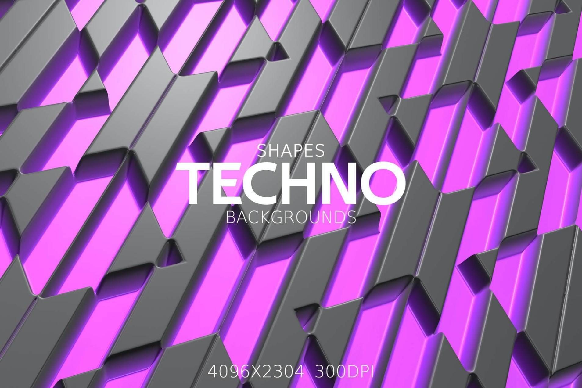 8种TECHNO效果纹理背景