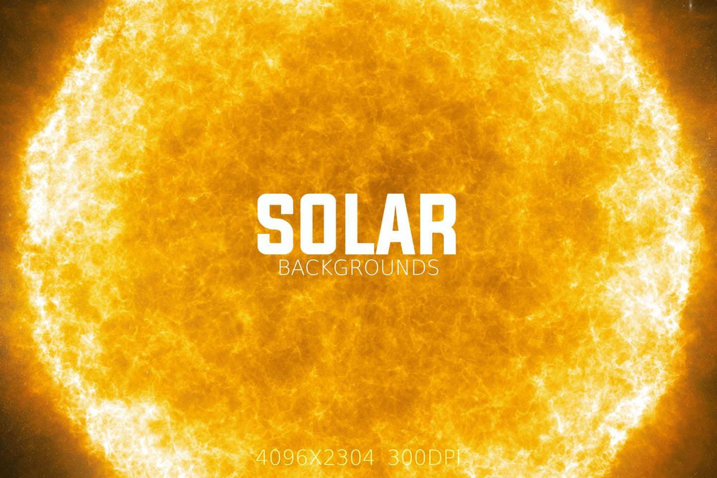 6种太阳表面发光效果纹理背景