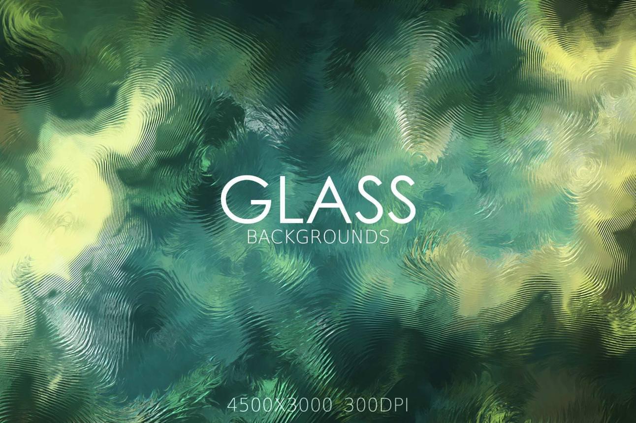 10种玻璃纹理纹路效果纹理背景