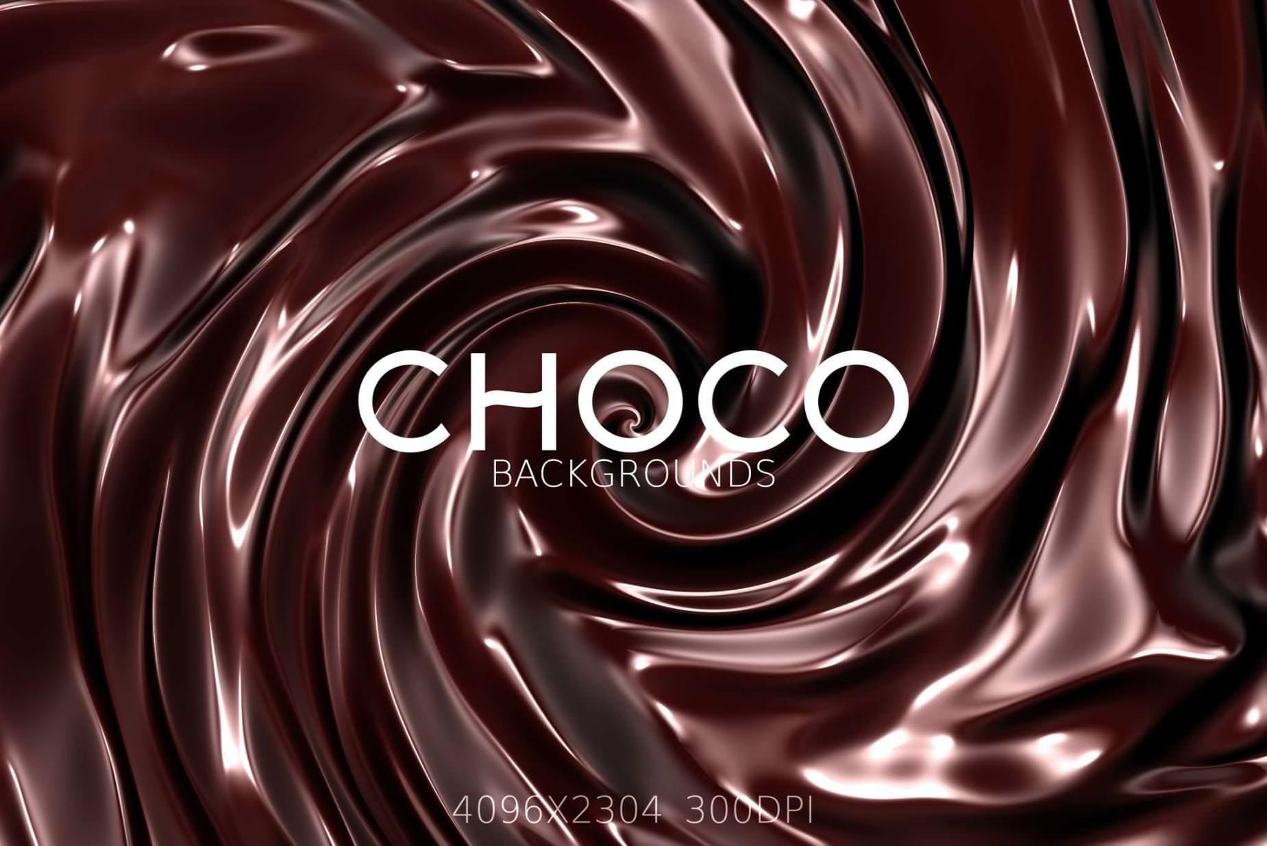 9种巧克力流动效果纹理背景
