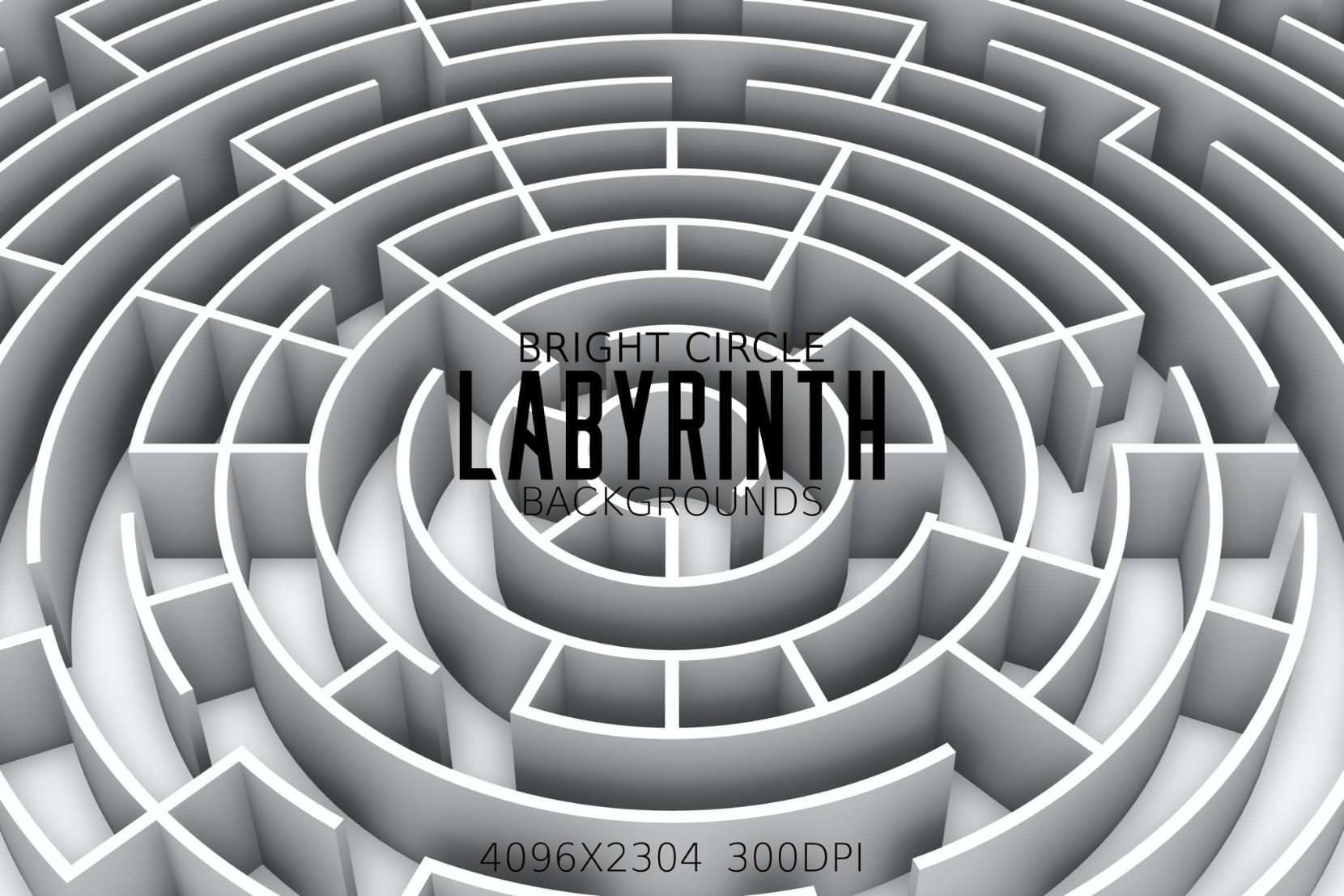 8种圆形迷宫效果纹理背景