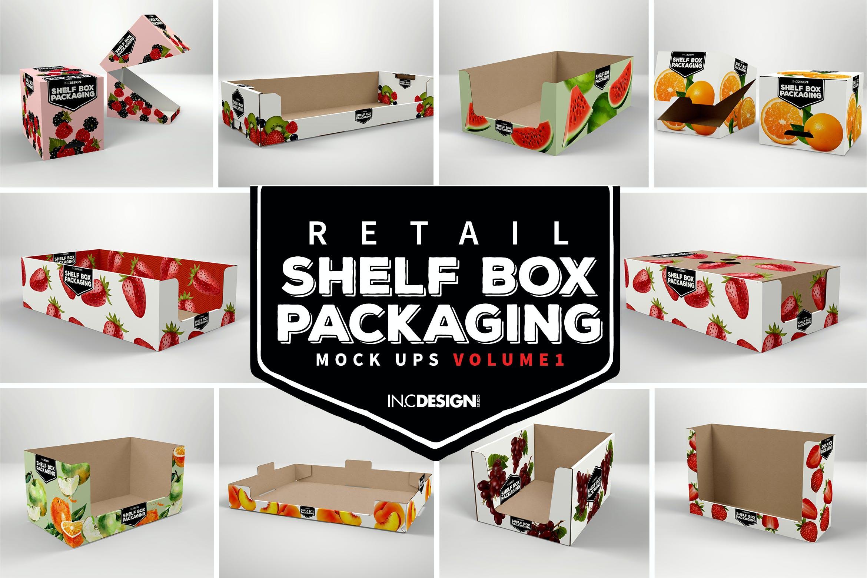 外带食品纸质包装盒套装三
