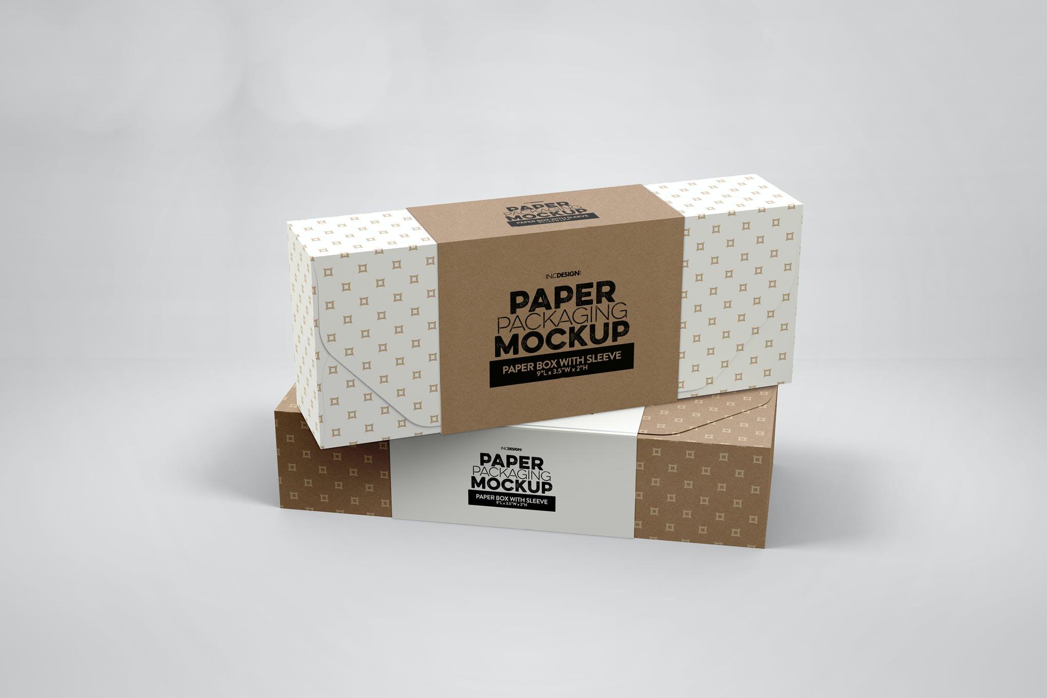 长方形纸盒包装