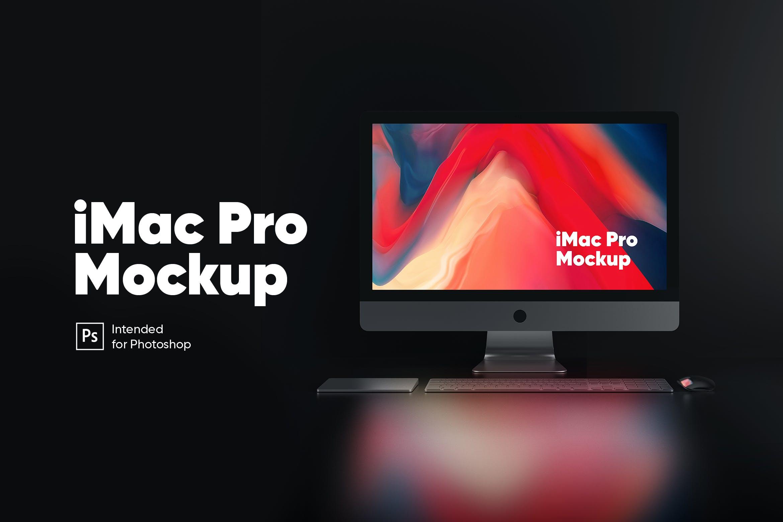 IMAC PRO电脑黑夜展示