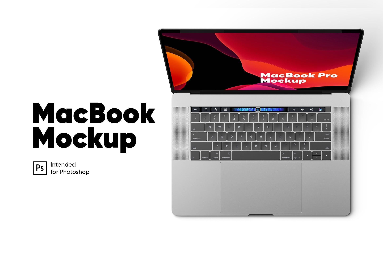 macbook pro俯视展示